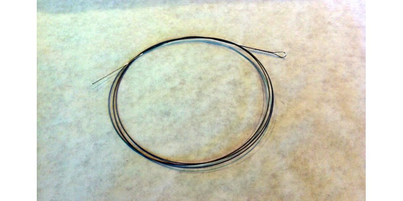 "Nickel wound strings, loop end, 45"" long, each - 0.022"